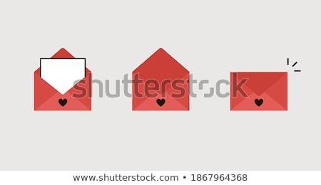 ストックフォト: バレンタイン · ポスト · ベクトル · ウェブ · バナー · 郵便配達員