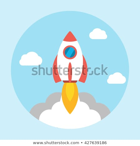 rocket vector flat icon stock photo © smoki