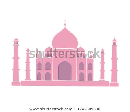Taj Mahal indiai tájékozódási pont utazás matrica izolált Stock fotó © robuart
