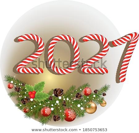 plantilla · de · diseño · invierno · ataviar · forestales · Navidad · folleto - foto stock © robuart