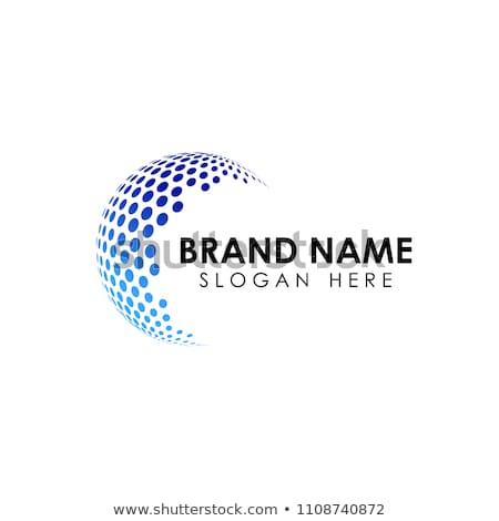 Vektor logo földgömb absztrakt logoterv alkotóelem Stock fotó © butenkow