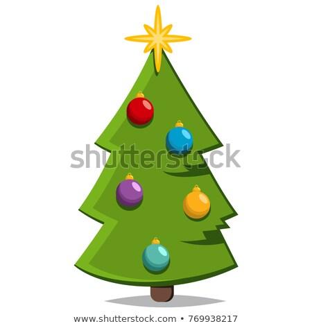 Fichte Baum Sterne Vektor Symbol isoliert Stock foto © robuart