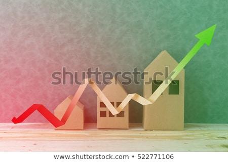Maison acheter louer organigramme main dessin Photo stock © ivelin