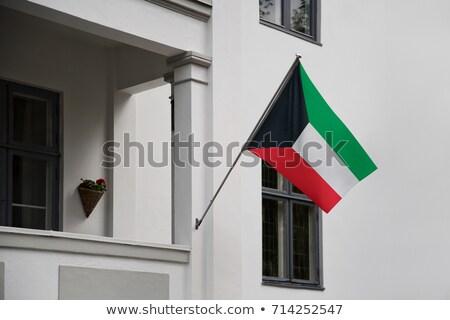 Кувейт · флаг · икона · изолированный · белый · интернет - Сток-фото © mikhailmishchenko