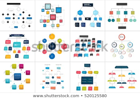 Graphics and Flowcharts, Schemes and Charts Set Stock photo © robuart