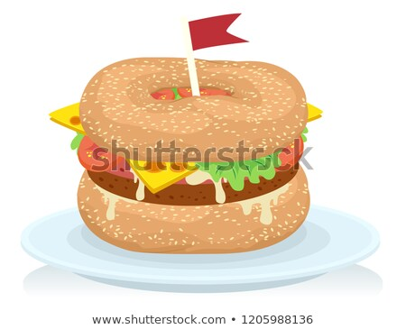 Food Canada Bagels Burger Illustration Stock photo © lenm