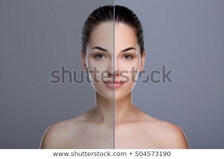 Mujer hermosa perfecto acné piel esquí estudio Foto stock © studiolucky