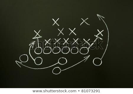 Foto stock: Entrenador · dibujo · americano · fútbol · estrategia · rugby