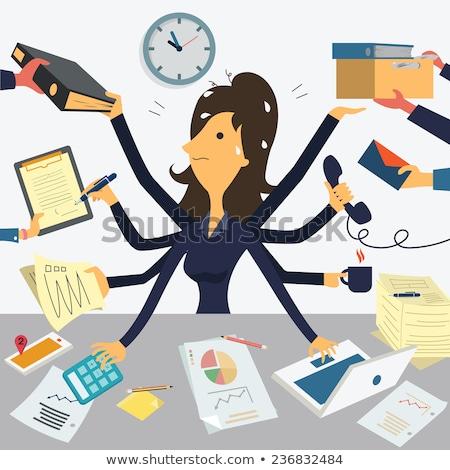 secretary work with multitask concept stock photo © ra2studio