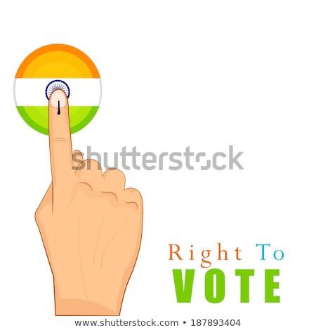 indian · verkiezing · banner · kleur · vlag · land - stockfoto © sarts