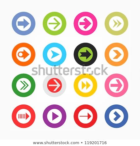 Baixar seta ícone preto elegante círculo Foto stock © kyryloff