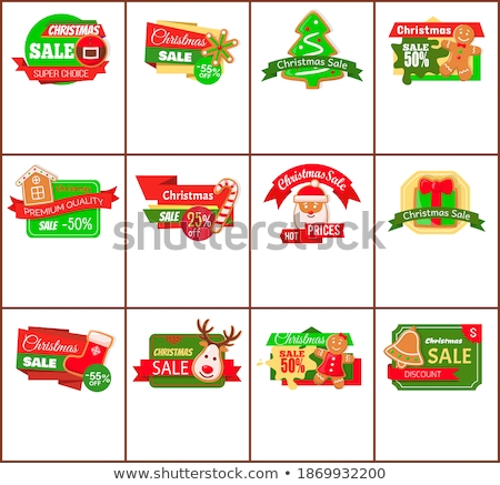 Stock photo: Christmas Sale Hot Price Cost Reduction Cookies