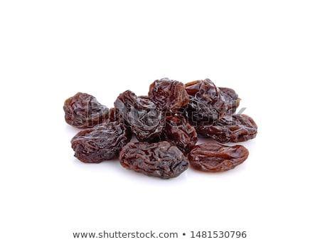 Kuru üzüm Metal çanak tablo gıda meyve Stok fotoğraf © tycoon