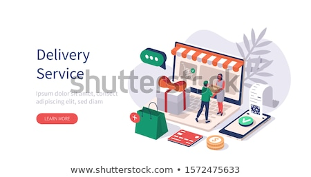 Delivery man giving parcel to customer Stock photo © Kzenon