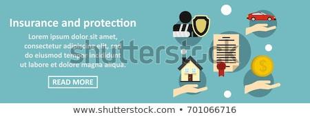 Color vintage accident insurance banner Stock fotó © netkov1