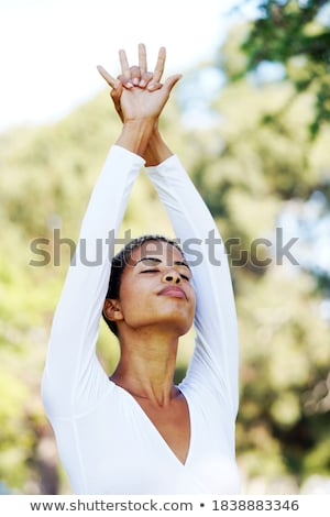 Fitnessz fitnessz nő nyújtás egészséges klub nő Stock fotó © Jasminko