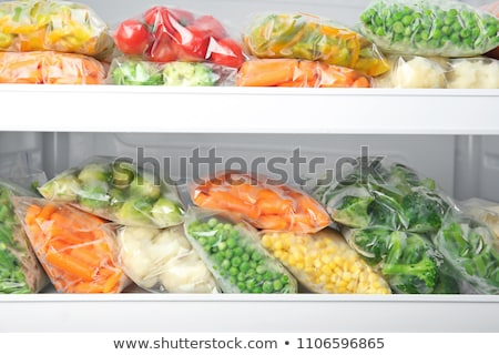 Plástico sacos congelada legumes geladeira diferente Foto stock © AndreyPopov