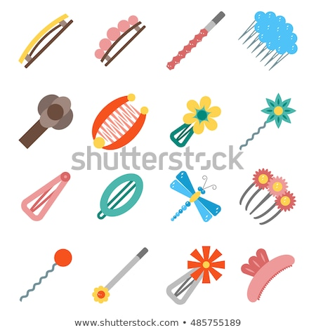 hair accessories object set stock photo © netkov1
