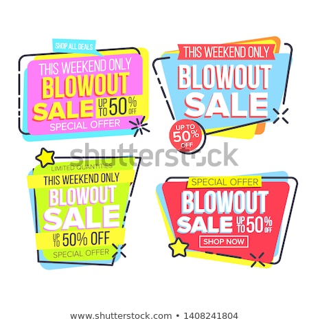 Closeout Sale Template Banner In Frame Set Vector Stock photo © pikepicture