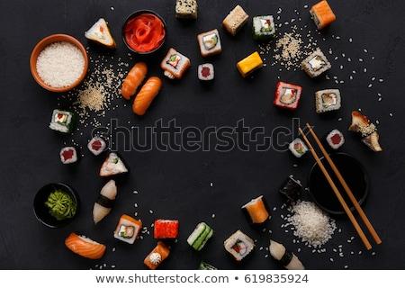 Comida japonesa branco isolado comida mar Foto stock © OleksandrO