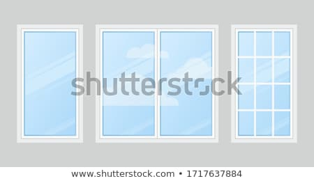 Fából készült ablakok sablon szett zárva átlátszó Stock fotó © romvo