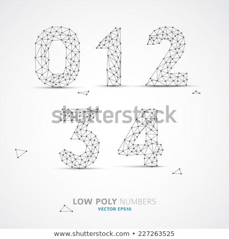 Black outline font Number 2 TWO 3D Stock photo © djmilic