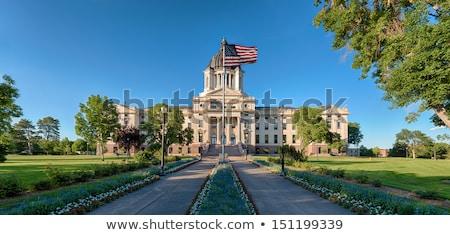 zászló · Dél-Dakota · nagyszerű · kép · háttér · szövet - stock fotó © grafvision
