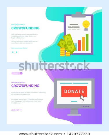 Donate Online and Cash Report, Crowdfunding Vector Stock photo © robuart
