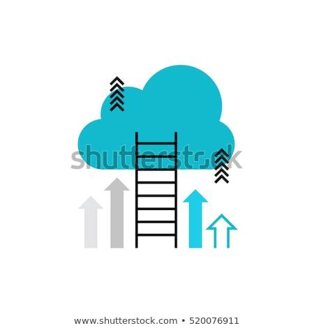 Stock photo: Arrow Cloud Ladder
