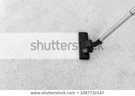 Porszívó szőnyeg közelkép személy takarítás ház Stock fotó © AndreyPopov