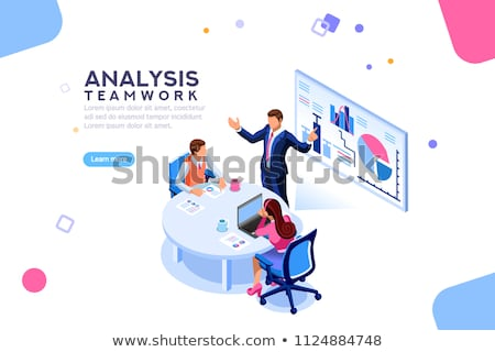 Stock photo: Researching Technology, Business Consulting Vector