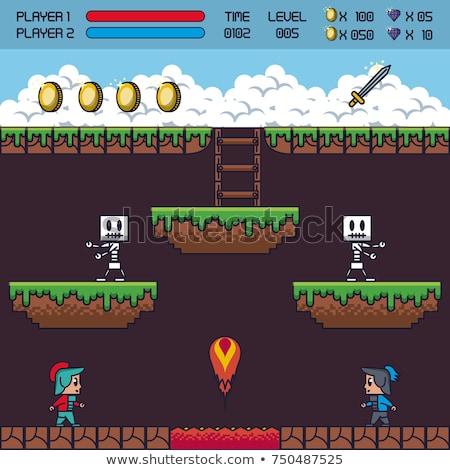 Pixel Art Balloon 8 Bit Arcade Video Game Icon Stock photo © Krisdog