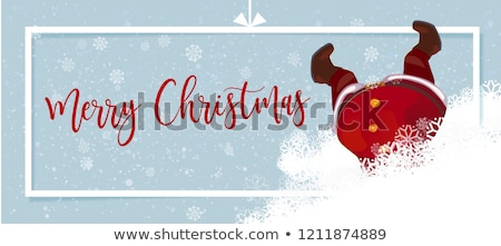 Merry Christmas and Happy New Year horizontal banner with golden confetti, glitter on black backgrou Stock photo © ikopylov