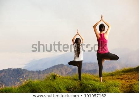 flexibilité · parc · heureux · corps · jardin · été - photo stock © lopolo