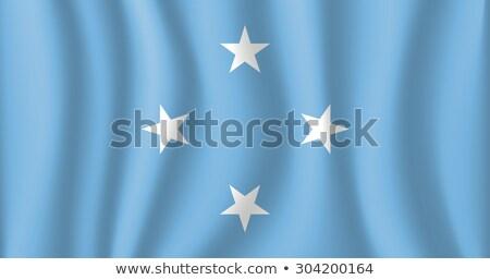 Bandeira Micronésia elementos camadas Foto stock © nazlisart