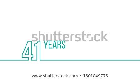 22 · лет · летию · рождения · линейный - Сток-фото © kyryloff
