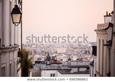 café · Paris · France · vue · romantique · parisien - photo stock © neirfy
