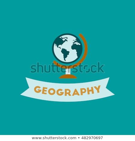 leerlingen · aardrijkskunde · wereldkaart · wereldbol · kinderen · vergadering - stockfoto © robuart