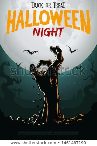 Halloween zombie strony grobu światło księżyca ciemne Zdjęcia stock © romvo