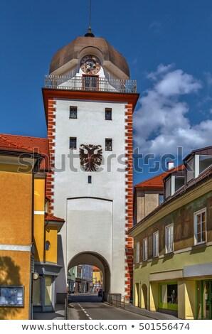 Австрия исторический города ворот небе здании Сток-фото © borisb17
