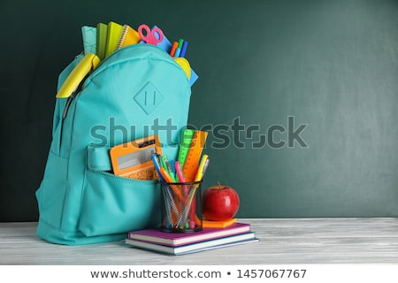 School,Chalkboard and Schoolbags, Stationery Tools Stock photo © robuart