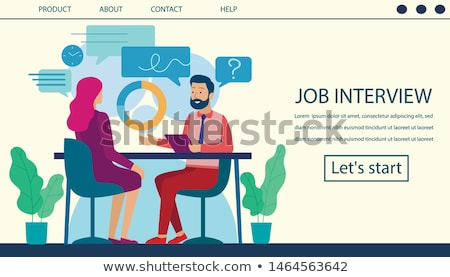 Boss with Man, Employer and Employee with Pages Stock photo © robuart