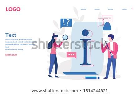 personas · dos · hombre · Pareja · pensando - foto stock © robuart