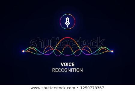 Voz controlar inteligente alto-falante usuário falante Foto stock © RAStudio