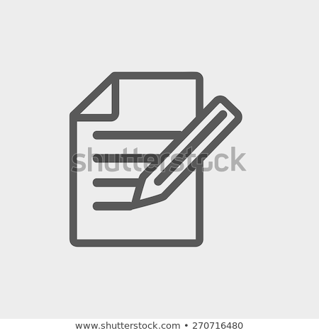 Jegyzetek ikon vektor izolált fehér szerkeszthető Stock fotó © smoki
