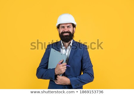 Successful mature engineer or architect in formalwear working with papers Stock photo © pressmaster