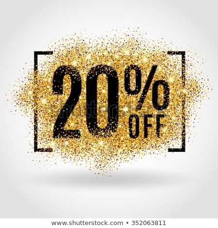 Christmas sprzedaży 20 procent banner Zdjęcia stock © robuart