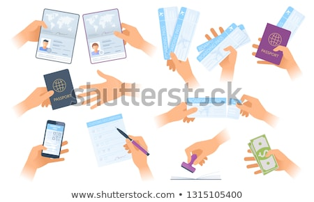 Hand Give Ticket Illustration Stock photo © lenm