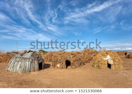 Dorp rivier Ethiopië arme traditioneel afrikaanse Stockfoto © artush