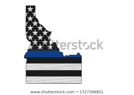 Idaho policji wsparcia banderą ilustracja Zdjęcia stock © enterlinedesign